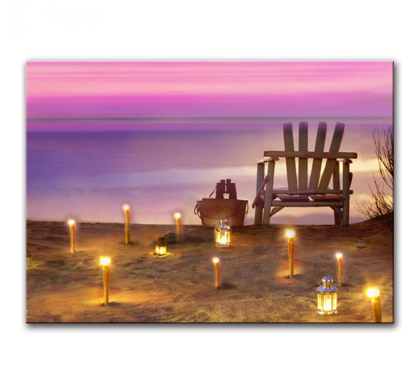 One Piece Framed Modern LED Beach Canvas For Home/Office Decor - EpicKanvas