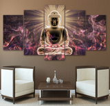 Framed Canvas Professionally Designed Buddha Painting - 5 piece Canvas