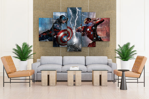 Marvel's Captain America Civil War - 5 piece Canvas