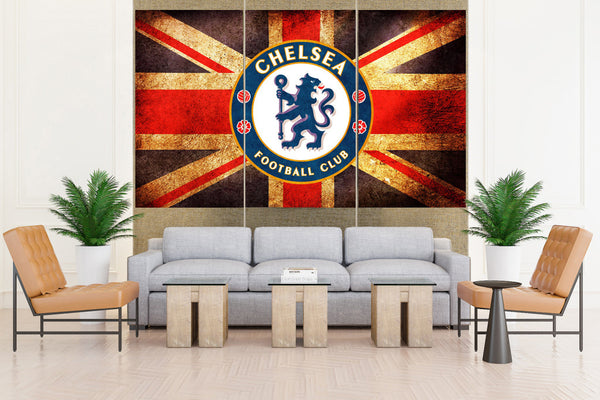 Chelsea FC soccer Club - 3 piece Canvas
