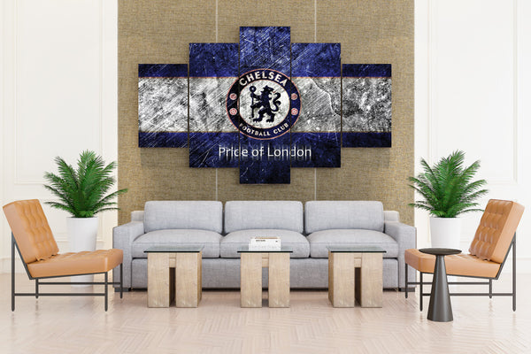 Chelsea FC Soccer Club - 5 piece Canvas