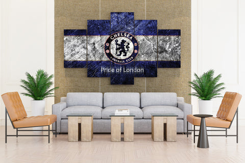 Chelsea FC Soccer Club - 5 piece Canvas - EpicKanvas