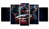 5 Piece Framed Marvel Captain America Artwork on Wall Art for Office and Home Wall Decor