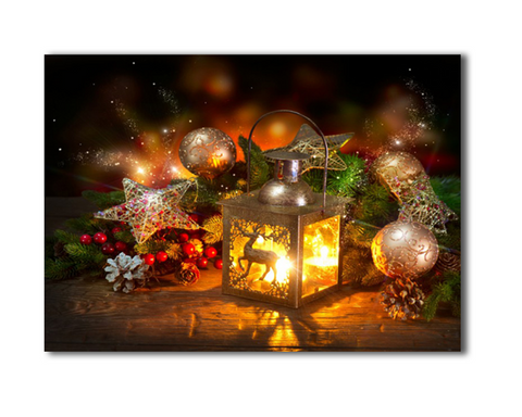 One Piece Framed Modern LED Christmas Light Canvas For Home/Office Decor