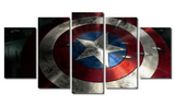 5 Piece Framed Marvel Civil War Super Hero Artwork Captain America Protection Shield on Wall Art for Office and Home Wall Decor