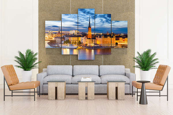 Sweden Stockholm Tower - 5 piece Canvas