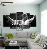 Five Piece Arnold, The Champion With Six Pack Abs Artwork - 5 Pcs Conquer-Arnold Schwarzenegger Muscle Canvas For Your Home & Office Decor - EpicKanvas