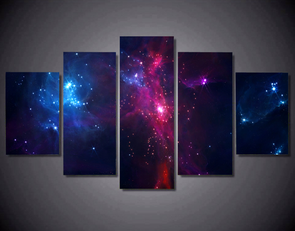 5 Pcs framed Cosmic canvas print for wall art for office and home decor