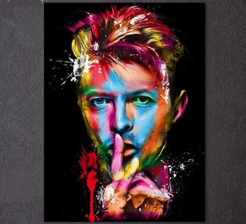1 Piece Framed David Bowie Canvas Prints - 1 Piece Canvas American Actor Artwork Painting on Wall Art for Office and Home Wall Decor