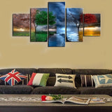 5pcs Framed Four Seasons Canvas Prints Nature View Canvas Prints Wall Art for Office and Home Wall Decor - EpicKanvas