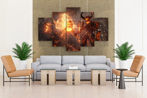 Demon Horns: War hammer Games - 5 piece Canvas