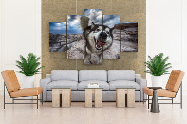 Dog Curious On Camera - 5 piece Canvas - EpicKanvas