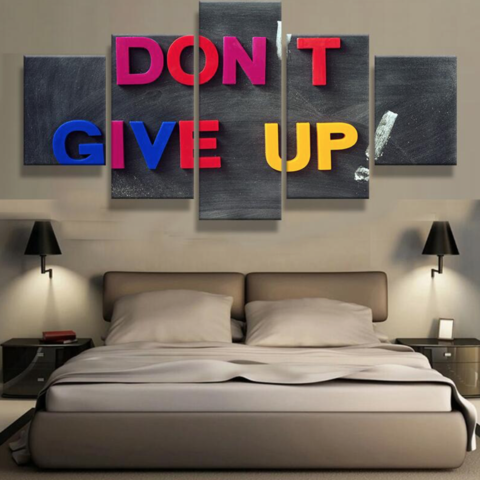 Don't Give Up Motivation - 5 piece Canvas