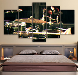 5PCS Drums Musical Instruments Wall Art Canvas For Home and Office Decor - EpicKanvas