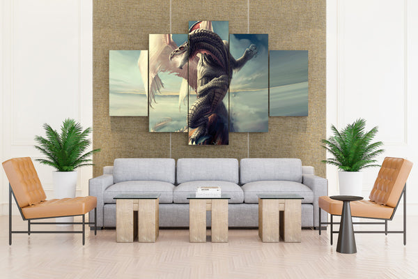 Epic dragon - 5 piece Canvas