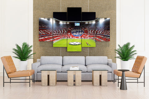 FC Bayern Munich 1900 Allianz Arena Fans Match Football sports - 5 piece Canvas