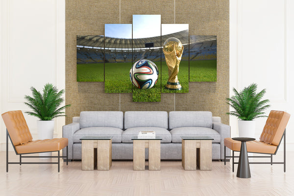 FIFA WORLD CUP Brazil soccer - 5 piece Canvas - EpicKanvas