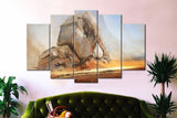 5 Pieces Starwars Fallen AT AT Canvas - Star Wars AT-AT Art