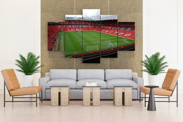Fields stadium manchester united fc manchester - 5 piece Canvas