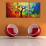 3 Pieces Abstract Colorful Tree Modern Home Wall Decor Canvas Artworks for your Home/Office Space - EpicKanvas