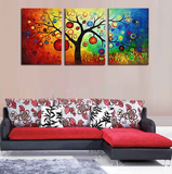 3 Pieces Abstract Colorful Tree Modern Home Wall Decor Canvas Artworks for your Home/Office Space