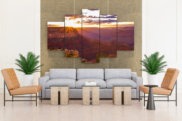 Grand Canyon Park USA Parks Mountains Sunrises and - 5 piece Canvas
