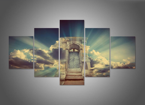 5 Pcs Framed Heaven's Door Canvas For Your Home/Office Room