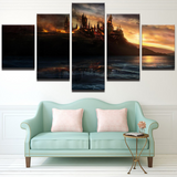 Harry Potter Flame Castle for Home Office Decor Wall Pictures for Living Room/Office Room …