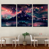 3Pcs Tangled Beautiful Magical Scene Like Harry Potter Art For Your Home/Office Room - EpicKanvas