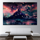 Epikkanvas 1 Pc Tangled Beauty Canvas Art Like Harry Potter School Castle Hogwarts Beauty for Living/Office Room - EpicKanvas