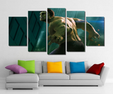 5 Piece Framed Marvel Hawkeye Super Hero Artwork Hawk on Wall Art for Office and Home Wall Decor