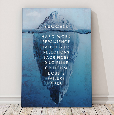 1PCS Framed Success Secret Canvas Prints - 1 Piece Achieving Dream Secret Artwork Canvas Painting on Wall Art for Office and Home Wall Decor