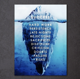 1PCS Framed Success Canvas Prints - 1 Piece Achieving Dream Secret Artwork Canvas Painting on Wall Art for Office and Home Wall Decor