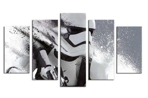 Imperial Stromtrooper Painting - 5 Piece Canvas