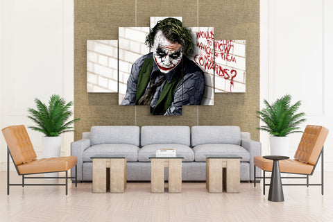 Joker Batman - 5 piece Canvas - EpicKanvas