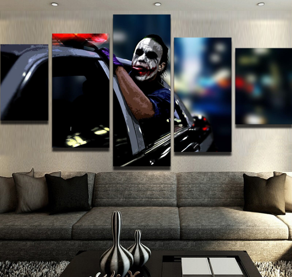 Joker Freedom - 5 piece Canvas