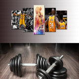 Kobe - Elevate Yourself: Different Goal Postures of Mr. Bryant - 5 piece Canvas