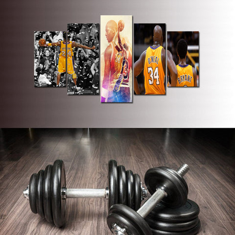 Kobe - Elevate Yourself: Different Goal Postures of Mr. Bryant - 5 piece Canvas - EpicKanvas