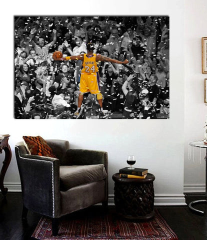 "1 Pc Framed Kobe Bryant #8 Black Mamba ""Kobe Celebration"" Canvas Art for your Home/Office Space - EpicKanvas"