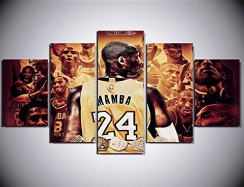 5 Piece Mamba Kobe The Bryant Basketball Champion Canvas
