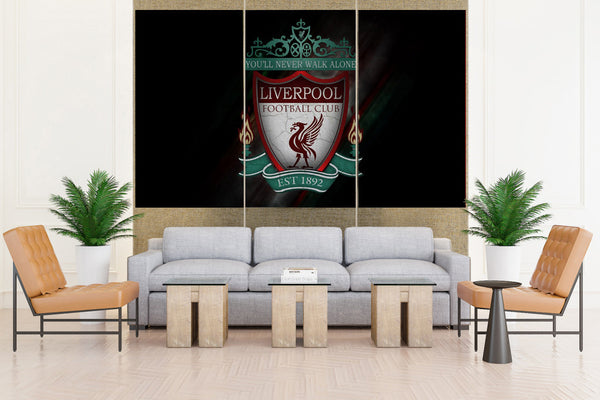 Liverpool Premier Soccer Sign - 3 piece Canvas