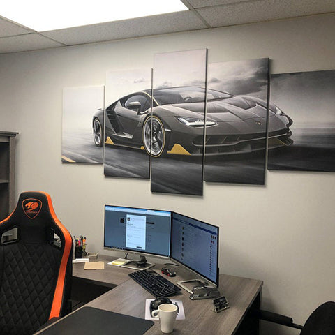 4PCS Lamborghini Sports Car Art - Rides For Winners