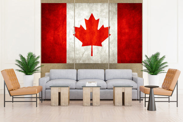 Canadian Maple Leaf Flag - 3 piece Canvas