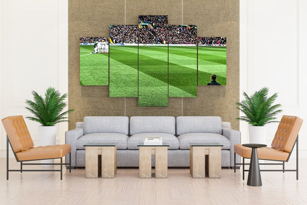 Football Soccer - 5 piece Canvas
