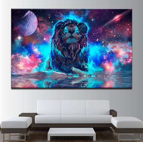 1 Piece Lion Abstract Canvas Artwork For Home/Office Decor - EpicKanvas