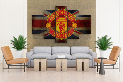 MANCHESTER UNITED premier soccer - 5 piece Canvas - EpicKanvas