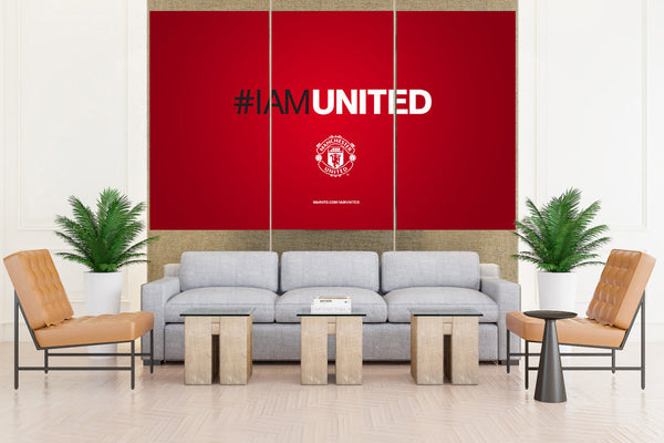 Manchester United Premier Soccer Sign - 3 piece Canvas