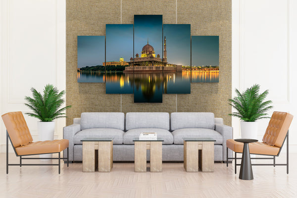 Malaysia Temples Houses Rivers Evening Kuala - 5 piece Canvas - EpicKanvas