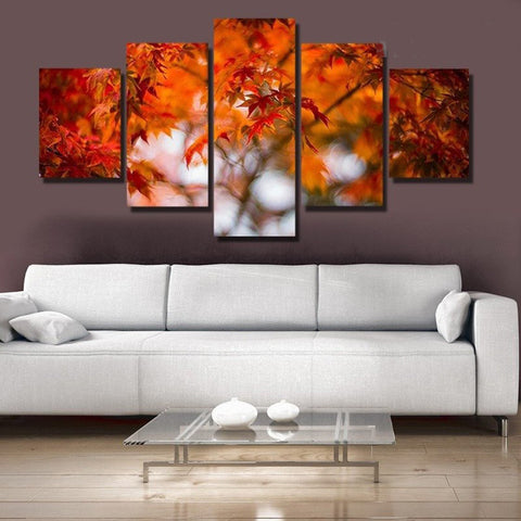 Maple Leaf - 5 piece Canvas