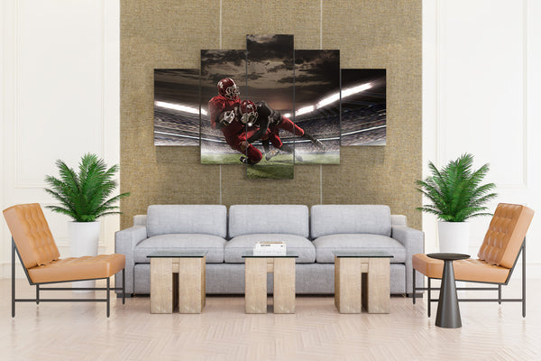 Men American Football Two Helmet Uniform - 5 piece Canvas